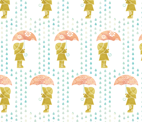 rain fabric by addilou on Spoonflower - custom fabric