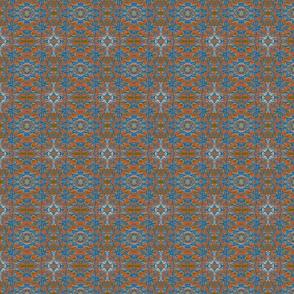 Heart Village Blue and Orange