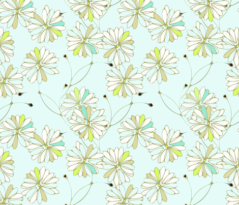 Breeze Floral fabric by joanmclemore on Spoonflower - custom fabric