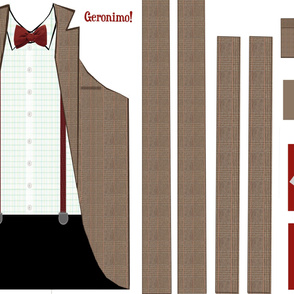 11th Doctor Cut & Sew Apron & Hotpad Set - NEW Larger Size!
