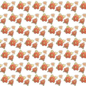 Dainty Red Orange Floral