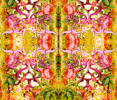 Gothic Rose Garden fabric by whimzwhirled on Spoonflower - custom fabric