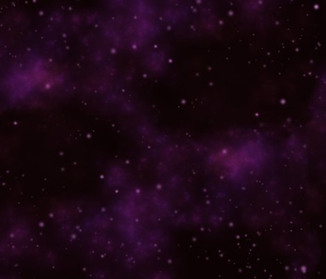 Violet space nebula fabric cellesria spoonflower for Nebula fabric