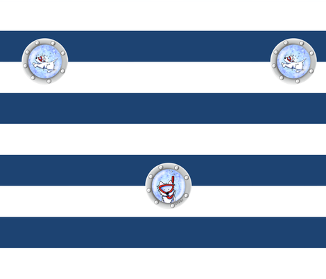 Nautical Westies fabric by kiniart on Spoonflower - custom fabric