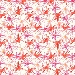 Stylish hand-drawn flower pattern