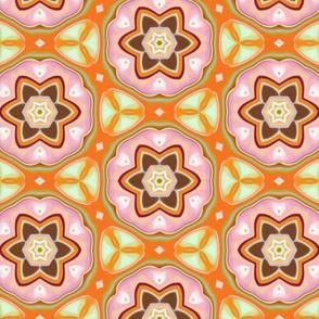 Pinky Flowers in Crochet Like Design