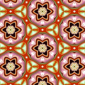 Floral Pattern Orange
