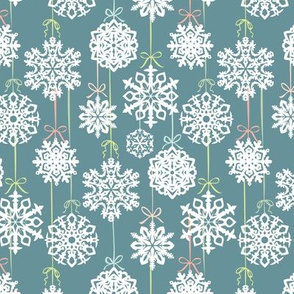 12 Joys of Christmas Snowflakes: Blue