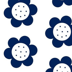 Mod Flower Power Navy