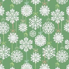 12 Joys of Christmas Snowflakes: Green