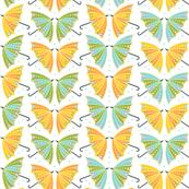 Umbrella Butterflies: White