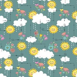 Rainy Days and Sun Days Maze: Blue-Gray