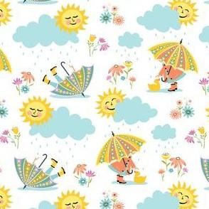 Umbrella Play: White