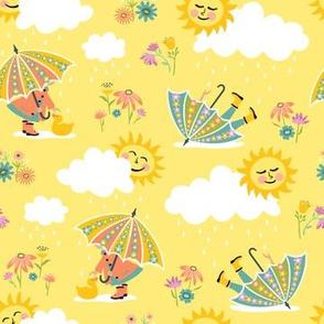 Umbrella Play: Yellow