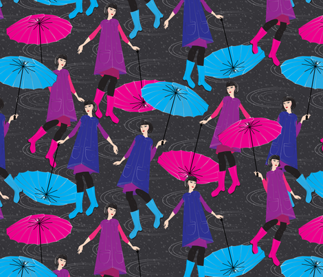 shocking pink fabric by kociara on Spoonflower - custom fabric