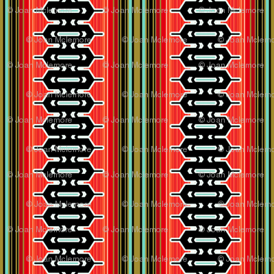 Modern geometric vertical stripe in red