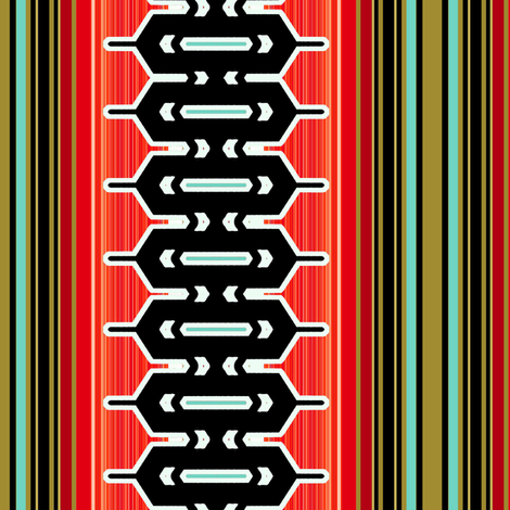 Modern geometric vertical stripe in red  fabric by joanmclemore on Spoonflower - custom fabric