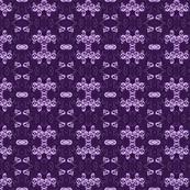 Purple Skulls Roses