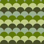 Green Dragon Scales Scallop Pattern Design