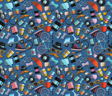 HIPSTER_PATTERN fabric by kostolom3000 on Spoonflower - custom fabric