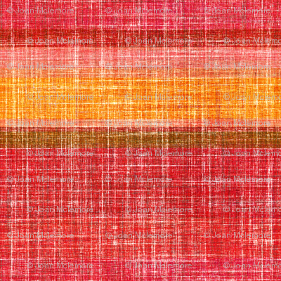 Linen Stripe in Hot Pepper