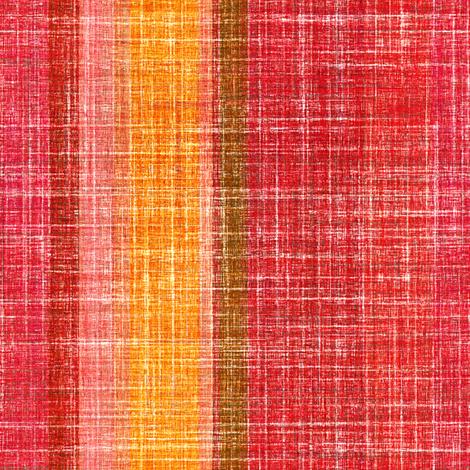 Linen Stripe in Hot Pepper  fabric by joanmclemore on Spoonflower - custom fabric