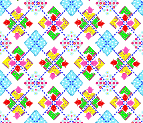 Argyle Spring Galoshes fabric by hpdesigns on Spoonflower - custom fabric
