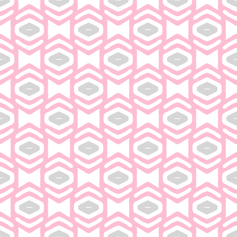 Modern Geometric Ogee in Pink fabric by joanmclemore on Spoonflower - custom fabric