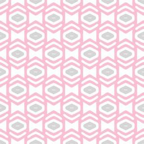 Modern Geometric Ogee in Pink