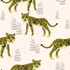 Safari Tiger - Cream