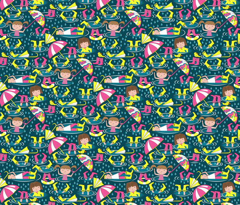 Puddle Play fabric by mag-o on Spoonflower - custom fabric