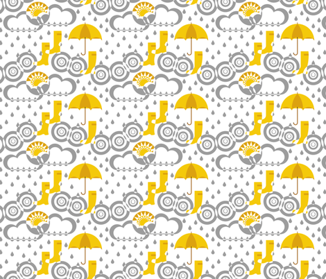 From clouds to ground, via my boots (grey) fabric by analinea on Spoonflower - custom fabric