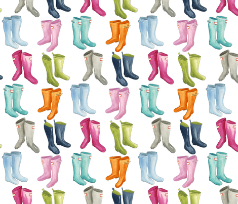 Wellies fabric by jillbyers on Spoonflower - custom fabric