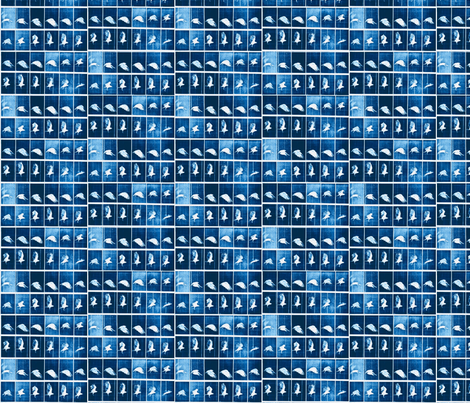 Muybridge Flap (indigo) fabric by dscougar on Spoonflower - custom fabric