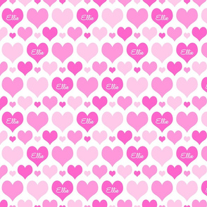 Personalised Heart Design - Pinks Small