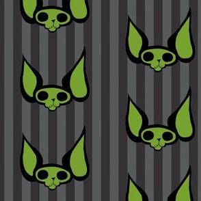 Sphynxiebonez Dark Stripes Grey and Green