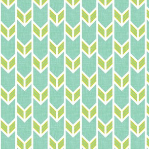 double chevron water linen citron stripe