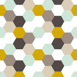 Mint Gold Hexagon