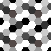 Monochrome Hexagon
