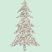 Silver Glitter Trees // Mint