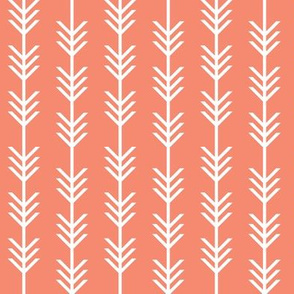 coral arrow stripes