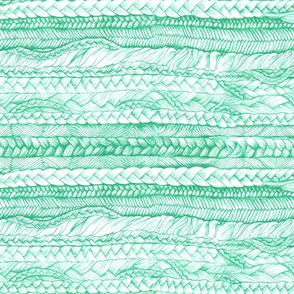Braided in Mint, Horizontal