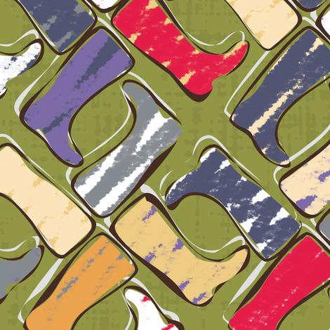 festival wellies fabric by scrummy on Spoonflower - custom fabric