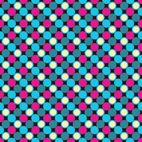 Pillow Fight - Color 2 -  pink Dots