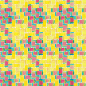 Watercolour Houndstooth Yellow