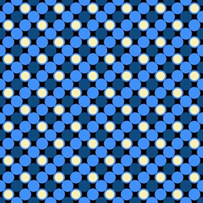 Pillow Fight - Color 1 - Blue Dots