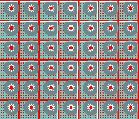 DOTS_AND_STARS_RED fabric by mammajamma on Spoonflower - custom fabric