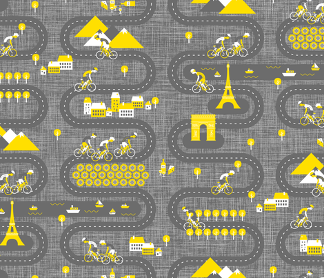 Vive Le Tour wallpaper fabric by zesti on Spoonflower - custom fabric
