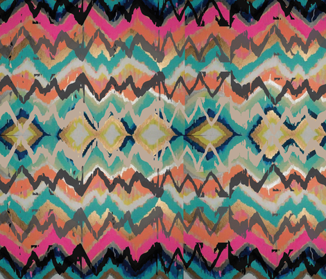 Urban Pocahontas fabric by idamaria on Spoonflower - custom fabric