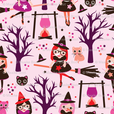 Magic poison and witch halloween pattern